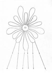 Drawing of Mistletoe Die