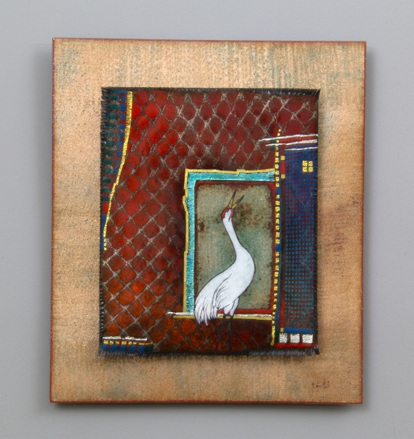 """Whooping Crane Red"" by Kathy Wilcox"
